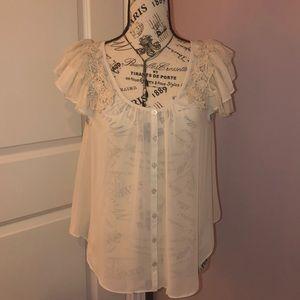 Betsy Johnson cream blouse